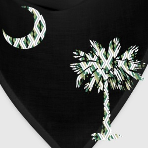 Chocolate SC Palmetto Flag - Green Diagonals Men - Bandana