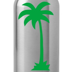 Ash  Tropical Beach Palm tree  Men - Water Bottle