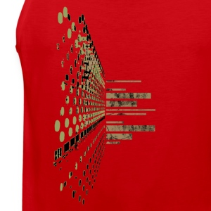 Red Soundscape System T-Shirts (Short sleeve) - Men's Premium Tank