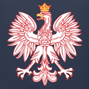 Polish Eagle Outlined In Red - Men's Premium Tank