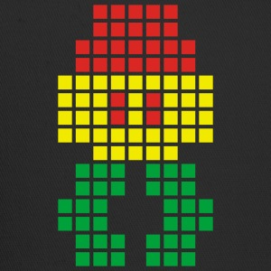 Black Jahtari Space Invaderz RED GOLD GREEN T-Shirts (Short sleeve) - Trucker Cap