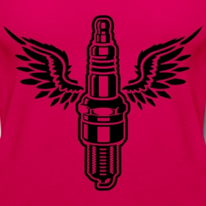 Burgundy spark plug T-Shirts (Short sleeve) - Women's Premium Tank Top
