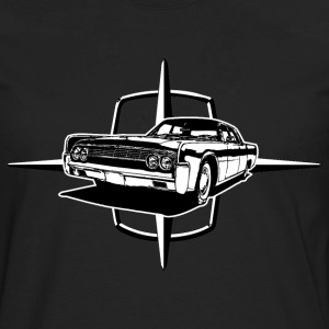 Black auto_lincoln_star_and_car_1_bw T-Shirts (Short sleeve) - Men's Premium Long Sleeve T-Shirt