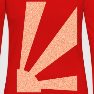 Red Rising Sun T-Shirts (Short sleeve) - Women's Premium Long Sleeve T-Shirt