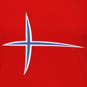 Red Norway Stripes T-Shirts (Short sleeve) - Women's Premium Long Sleeve T-Shirt