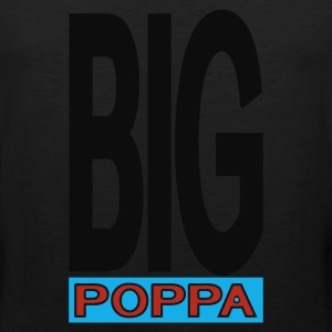 Black Big Poppa With Outline T-Shirts (Short sleeve) - Men's Premium Tank