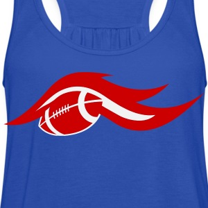Royal blue american_football_on_fire T-Shirts (Short sleeve) - Women's Flowy Tank Top by Bella