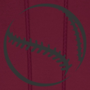 Burgundy baseball_the_baseball_newstyle T-Shirts (Short sleeve) - Men's Hoodie