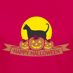 Burgundy halloween_happy_halloween_v1 T-Shirts (Short sleeve) - Women's Premium Long Sleeve T-Shirt