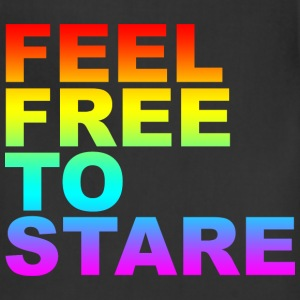 Black feel free to stare T-Shirts (Short sleeve) - Adjustable Apron