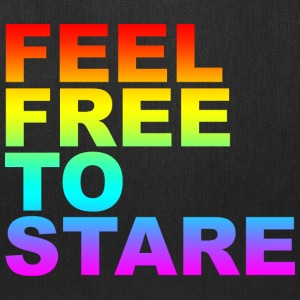 Black feel free to stare T-Shirts (Short sleeve) - Tote Bag