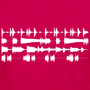 4 track waveforms T-Shirts Burgundy - Women's Premium Long Sleeve T-Shirt
