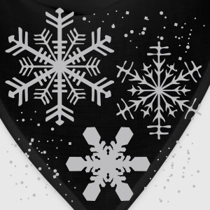 Black Winter SNOWFLAKES Design Plus Size - Bandana