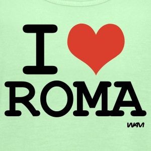 Bright green i love roma by wam T-Shirts - Women's Flowy Tank Top by Bella