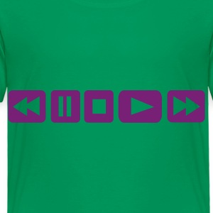 Kelly green Player Button - DJ Kids Shirts - Toddler Premium T-Shirt