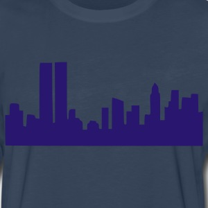 Navy Skyline T-Shirts - Men's Premium Long Sleeve T-Shirt