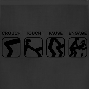Black Crouch, Touch, Pause, Engage T-Shirts - Adjustable Apron