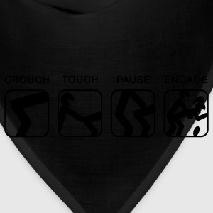 Black Crouch, Touch, Pause, Engage T-Shirts - Bandana