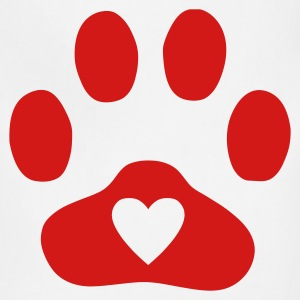 Natural Heart In Paw Print  - Dog, Cat T-Shirts - Adjustable Apron