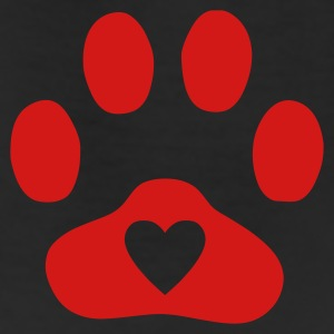 Natural Heart In Paw Print  - Dog, Cat T-Shirts - Leggings