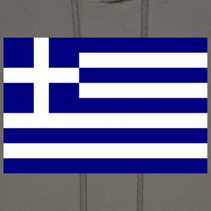 Chocolate Flag of Greece T-Shirts - Men's Hoodie