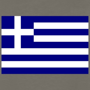 Chocolate Flag of Greece T-Shirts - Men's Premium Long Sleeve T-Shirt