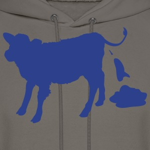 Chocolate cow pooping T-Shirts - Men's Hoodie