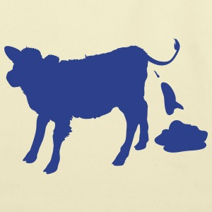 Chocolate cow pooping T-Shirts - Eco-Friendly Cotton Tote