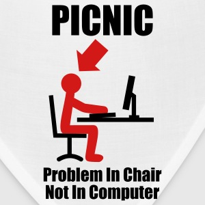 PICNIC - Problem in Chair, not in Computer - Computer - Admin T-Shirts White - Bandana