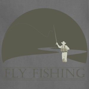 Sage fly fisherman 1 fly fishing design T-Shirts - Adjustable Apron
