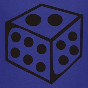 Royal blue Dice - Number Kids Shirts - Toddler Premium T-Shirt