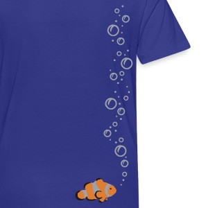 Royal blue Clownfish with bubbles Kids Shirts - Toddler Premium T-Shirt