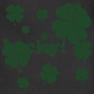 Black All over four leaf clover T-Shirts - Adjustable Apron