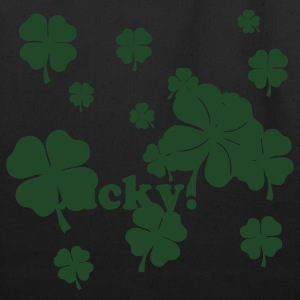 Black All over four leaf clover T-Shirts - Eco-Friendly Cotton Tote