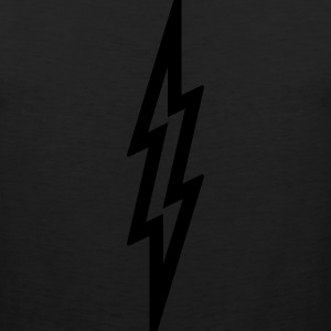 Lightning Bolt T Shirt - Silver - Men's Premium Tank