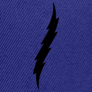 Lightning Bolt T Shirt - Snap-back Baseball Cap