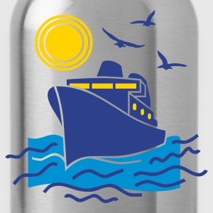 Kelly green cruise_sea_boat_sailing Kids Shirts - Water Bottle
