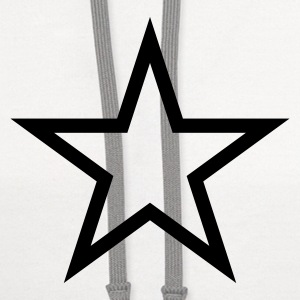 Star T Shirt - Contrast Hoodie