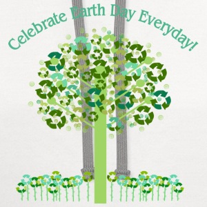 White Celebrate Earth Day Everyday Toddler Shirts - Contrast Hoodie