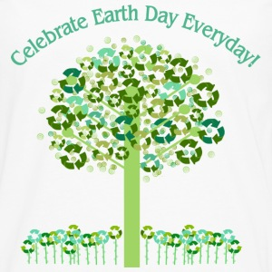 White Celebrate Earth Day Everyday Toddler Shirts - Men's Premium Long Sleeve T-Shirt