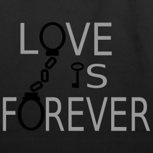 Black Love is Forever T-Shirts - Eco-Friendly Cotton Tote