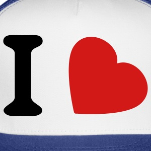 White i love T-Shirts - Trucker Cap