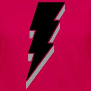 Lightning Bolt T Shirts - 3-D - Women's Premium Long Sleeve T-Shirt