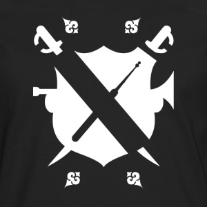 Lockpickers coat of arms [white edition] - Men's Premium Long Sleeve T-Shirt