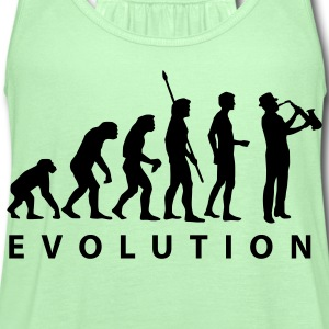 Forest green evolution_saxophon T-Shirts - Women's Flowy Tank Top by Bella