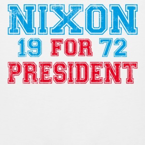 White Nixon 1972 retro T-Shirts - Men's Premium Tank