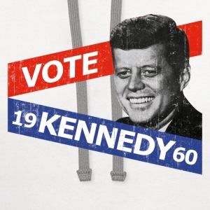 Natural JFK Kennedy Retro  T-Shirts - Contrast Hoodie