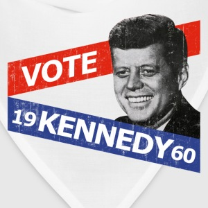 Natural JFK Kennedy Retro  T-Shirts - Bandana