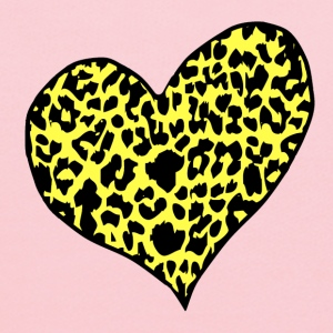 Yellow cheetah heart yellow Kids' Shirts - Kids' Hoodie