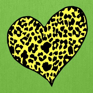 Yellow cheetah heart yellow Kids' Shirts - Tote Bag